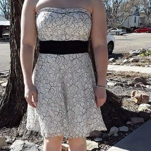 Black and White Homecomong Dress
